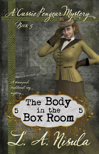 cover of Cassie Pengear Mysteries book 5 The Body in the Boxroom by L. A. Nisula